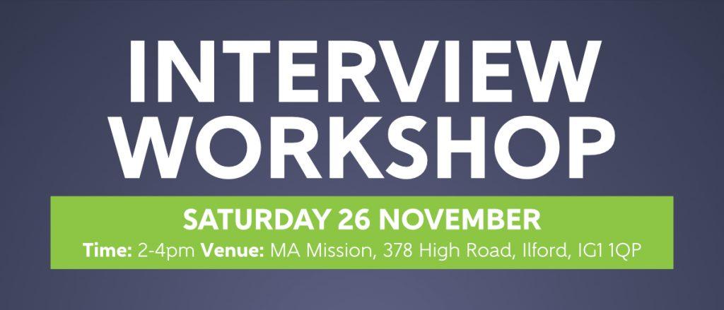 Interview Workshop 2016_banner  Interview Workshop